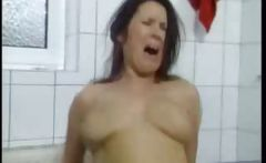Busty German Mature Fucked In The Bathroom