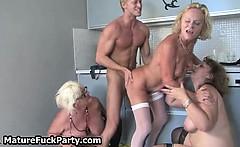 Dirty mature slut having group sex
