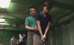 Subtitled Japanese golf swing erection demonstration