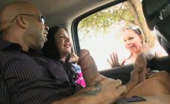 Handjobs for black cock from amateurs in a car