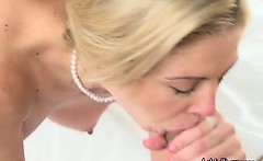 Wild Housewife Sucks Hard On Her Assistants Huge Cock