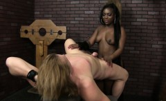Black dominatrix with big booty queening her useless submiss