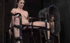 Redhead sub in tens electric play being punished