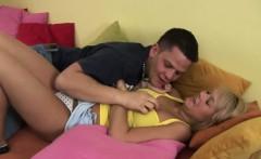 Pierced blonde teen Caroline gets fucked