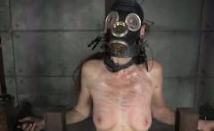 Gas masked sub gets shock treatment