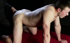 Sexy young jock has ass fingered by older gay man