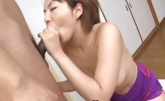 Milf Rio Kurusu makes her boyfriend cum