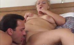 Blonde BBW anal action