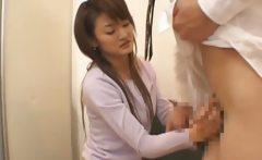 Asian cutie getting a cunt check