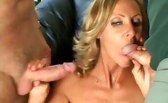 Slutty mature wife get double facial