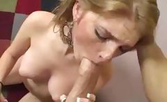 Blonde Faye Reagan strips and poses then gets banged hard