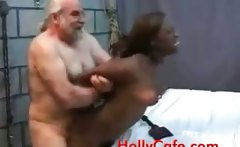 Old Dude Fucking A Black