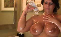 Busty Milf Amateur Strips Out Of Thong Bikini