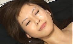 Hime Kamiya Asian chick enjoys bukkake