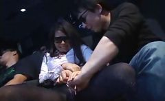 Japanese Gives Bj In Theater